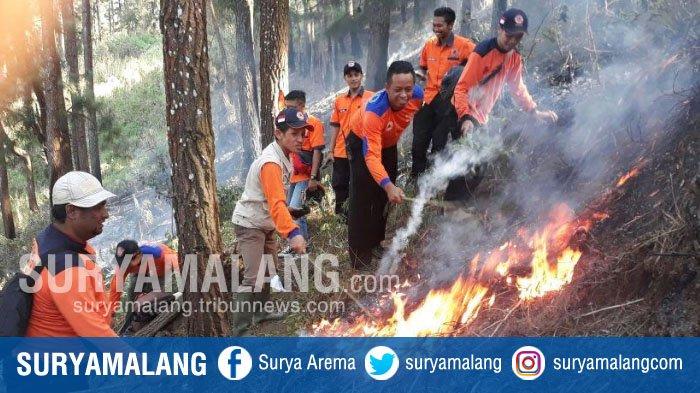 Keterlaluan, Ada Orang yang Sengaja Membakar Lahan di Gunung Tumpak Seruk Kota Batu