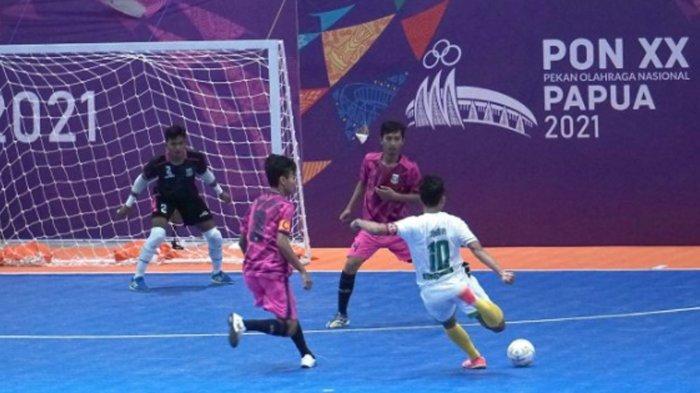 Tim Futsal Jatim Raih Kemenangan, Kalahkan Maluku Utara 4-2 di PON XX Papua