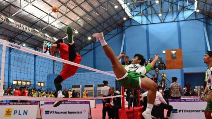 Tim Sepak Takraw Jatim Raih Kemenangan Perdana di Nomor Tim Double Event PON XX Papua