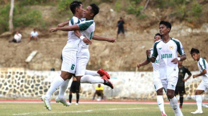 Tim Sepakbola Jatim Siap Tempur Lawan Kaltim di Babak 6 Besar PON XX Papua Besok