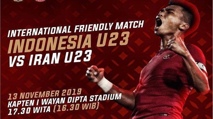 Siaran Langsung & Link Live Streaming Pertandingan Timnas U-22 Indonesia Vs Iran Sore Ini