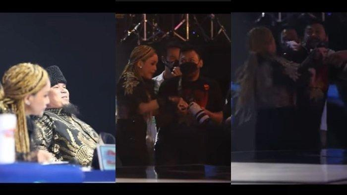 Tingkah Aneh Maia Estianty dan Ahmad Dhani di Indonesian Idol saat Mulan Jameela bernyanyi