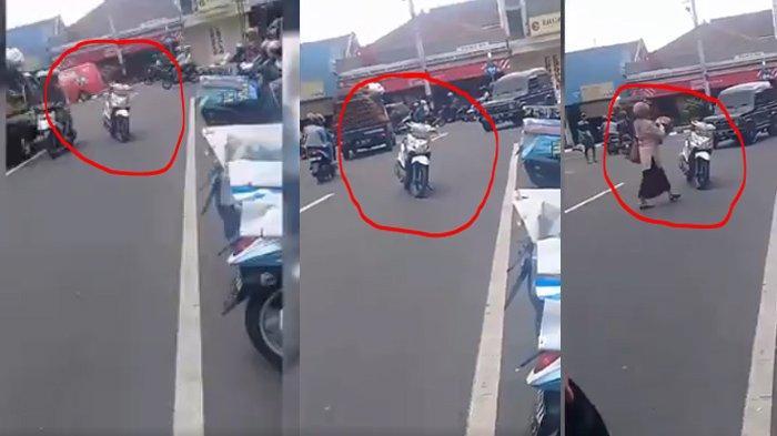 Tingkah Laku Seenaknya Emak-emak Parkir Motor di Tengah Jalan, Gubernur Ganjar Pranomo Ikut Komentar