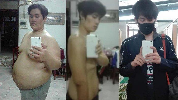Tansformasi Pria Berbobot 156 Kg Turun Drastis Jadi 75 Kg Dalam Setahun, Foto Before-After Disorot