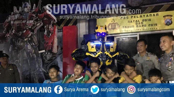 Ada Transformer dan Bumblebee di Pos Pelayanan Natal 2018 dan Tahun Baru 2019 di Surabaya