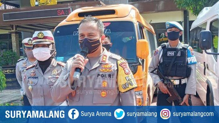 Travel Gelap Angkut Pemudik Mulai Masuk Kabupaten Malang, 3 Kendaraan Ditilang Polres Malang