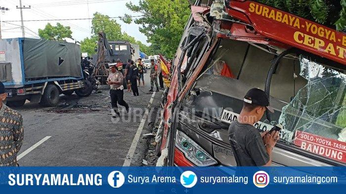 Kecelakaan Maut Truk Pengangkut Gas Vs Bus Sugeng Rahayu di Madiun, Diduga Sopir Truk Mengantuk