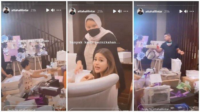 Tumpukan kado pernikahan Aurel Hermansyah dan Atta Halilintar