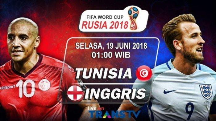 Siaran Langsung dan Prediksi Pemain Tunisia Vs Inggris, Malam Ini Mulai 01.00 WIB