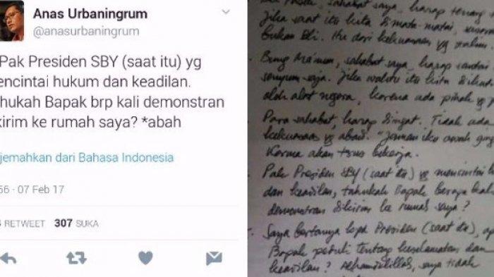 Anas Urbaningrum Merespon 'Saya Bertanya', Tweetnya Nampak Bukan Bercanda