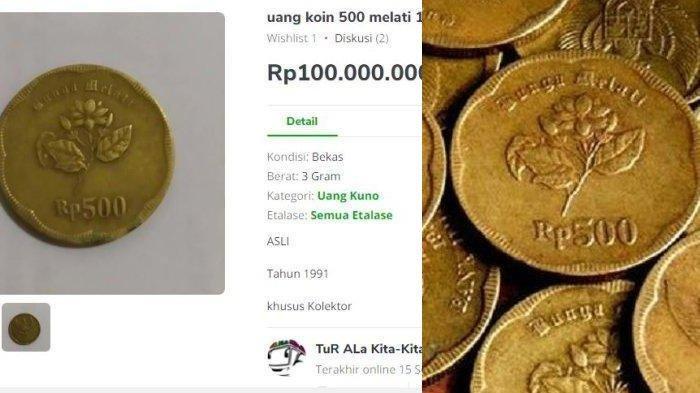 Uang Koin Rp 500 Gambar Bunga Melati Dihargai Rp 400 Juta Bikin Heboh, Begini Respon Kolektor Uang