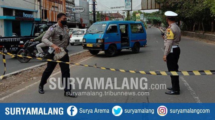Suasana Uji Coba Penutupan Jalan Basuki Rahmat, Kota Malang