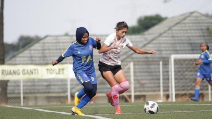 Arema FC Women Dibekuk 0-4 Oleh Timnas Indonesia Putri dalam Laga Uji Coba di Sawangan Depok