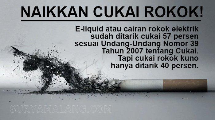 Tidak ada Alasan Menahan Kenaikan Tarif Cukai Rokok, UU Mengatur Bisa sampai 57 Persen