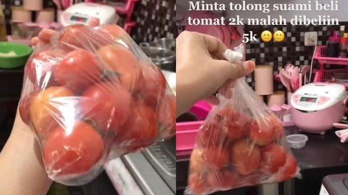 Kelakuan Suami Disuruh Beli Tomat Rp 2 Ribu Malah Beli Rp 5 Ribu Viral, Istri Jengkel Tapi Ngakak