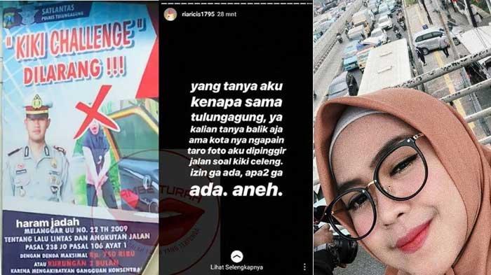 Ria Ricis Minta Maaf ke Warga Tulungagung, Gara-garanya Baliho Larangan Kiki Challenge