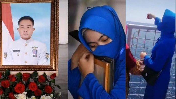 Suasana Pilu Tabur Bunga KRI Nanggala, Istri Serda Pandu Nyaris Pingsan, Baru Nikah 2 Bulan Berpisah