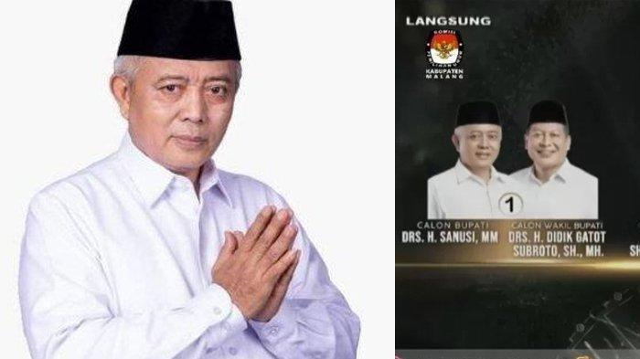 Update Real Count Pilkada Malang 2020 Minggu 20 Desember 2020: Data Final Seluruh TPS Sanusi 44,2%
