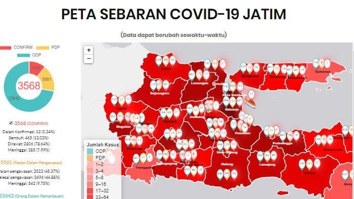 UPDATE Virus Corona di Malang Raya & Jatim Hari Ini Sabtu 23 Mei 2020: Total ada 107 Pasien Covid-19