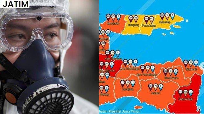 Update Zona Merah di Jawa Timur Kamis 17 September 2020: Malang Merah, Ngawi Oranye, Sampang Kuning