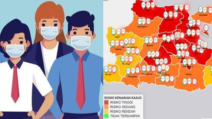 Update Zona Merah Jawa Timur Minggu 13 September 2020: Sidoarjo Merah, Surabaya Oranye, Ngawi Kuning