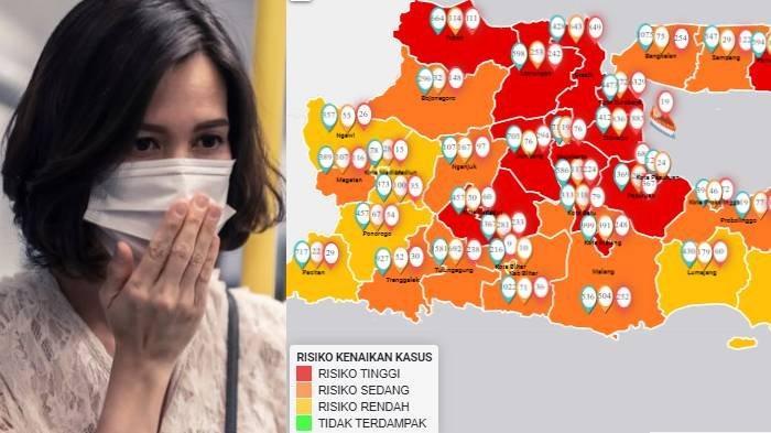 Update Zona Merah di Jawa Timur Minggu 5 Juli: Pamekasan Zona Merah, Sampang Oranye & Ngawi Kuning