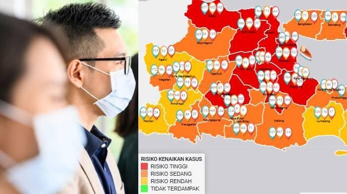 Update Zona Merah di Jawa Timur Selasa 30 Juni: Kota Malang & Batu Naik Zona Merah, Zona Hijau Nihil