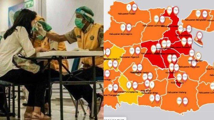 Update Zona Merah Jatim Sabtu 1 Agustus 2020: Batu Zona Merah, Probolinggo Oranye, Madiun Kuning