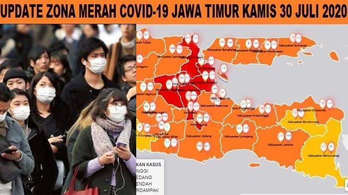 Update Zona Merah Jawa Timur 30 Juli 2020: Madiun Zona Kuning, Nganjuk Oranye Kota Malang Batu Merah