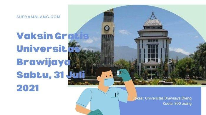 Lokasi Vaksin Covid-19 di Malang Digelar Sabtu 31 Juli 2021 oleh UB, Simak Link dan Cara Pendaftaran