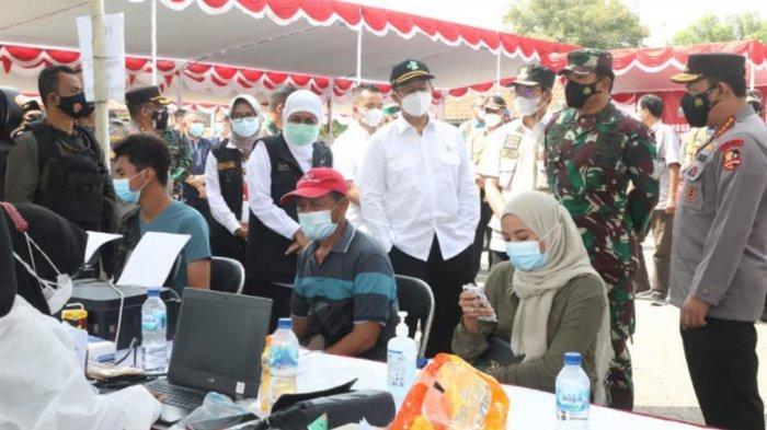 UPDATE Penanganan Kasus Covid-19 Bangkalan, Panglima TNI dan Kapolri Kembali Kawal Vaksinasi Warga