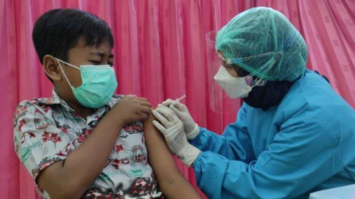Siswa SD di Kota Blitar Mulai Dapat Suntikan Vaksin Covid-19
