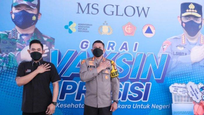 Gandeng Polres Jaksel, Juragan 99 Bersama MS Glow Gelar Vaksinasi Covid-19 dan Bagi Sembako Gratis