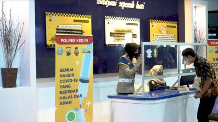 Satlantas Polres Kediri Berikan Vaksin Covid-19 Gratis kepada Pemohon SIM