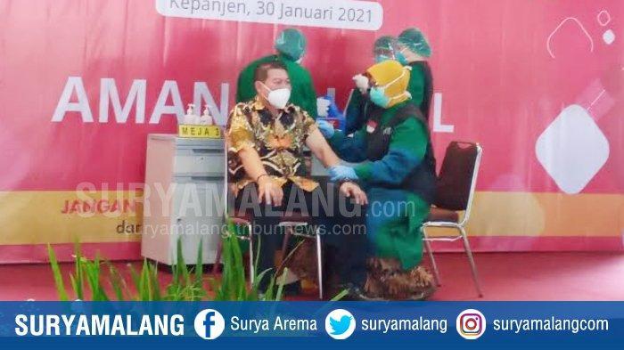 Belasan Pejabat di Kabupaten Malang Jalani Vaksinasi Covid-19