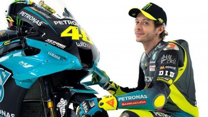 Valentino Rossi dan motor barunya di Petronas Yamaha SRT
