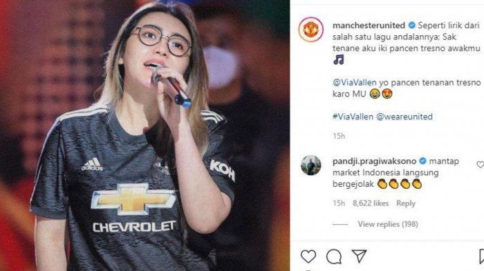 Via Vallen jadi sorotan usai potret cantiknya nongol di Instagram Manchester United