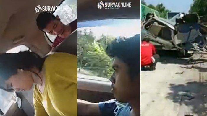 Video Innova vs Bus Mira di Nganjuk, Rekaman Aksi 2 Mahasiswa & 1 Cewek Ponorogo Sebelum Tewas