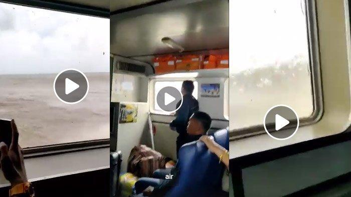 Video Menegangkan Detik-detik Kapal Feri Dihantam Ombak, Penumpang Nangis, Kapten Kapal Teriak Diam!
