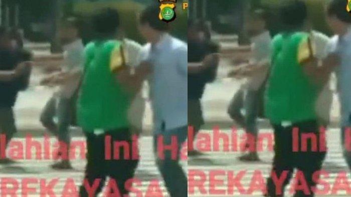 Perkelahian Heboh Dosen Dikeroyok 4 Pria di Jalan Viral, Ternyata Rekayasa, Sekongkol sama Mahasiswa