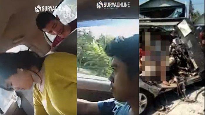 Kecelakaan Innova Vs Bus Mira Nganjuk, Viral Video Aktivitas Pria & Wanita Di Mobil Sebelum Tabrakan