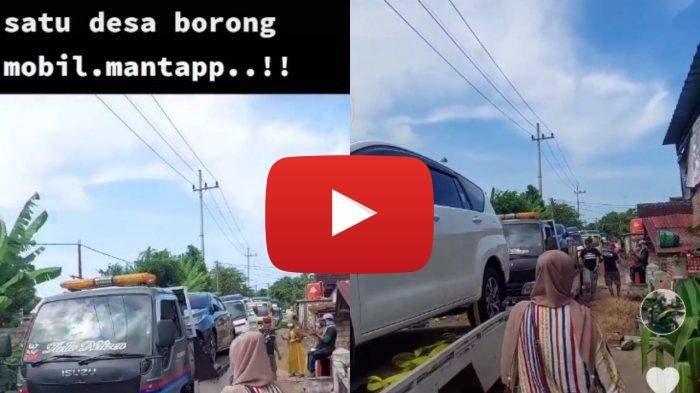 Video suasana warga desa Tuban membeli mobil secara massal