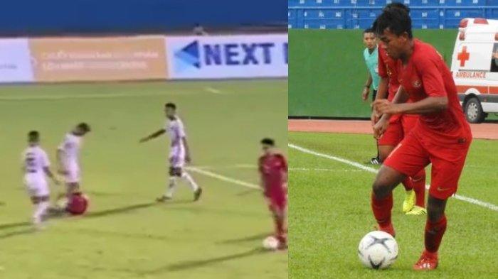 Video Saat Supriadi Pemain Timnas U-18 Indonesia Diinjak Pemain Timor Leste, Sebabkan Keributan