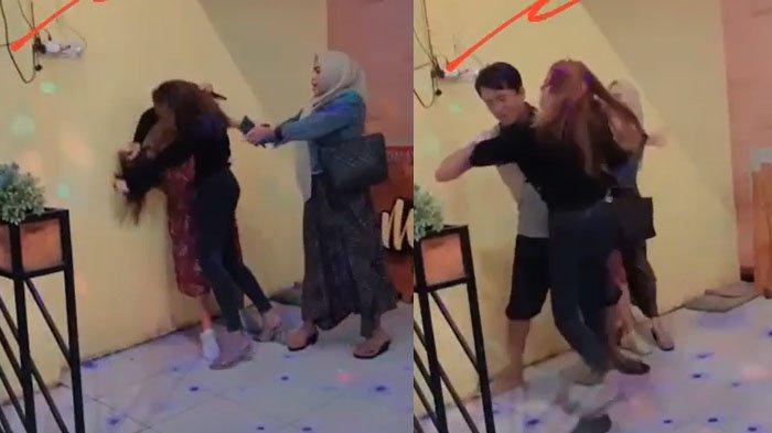 Fakta di Balik Video Viral 2 Cewek Saling Jambak di Rumah Makan Sampang, Ada Teriakan 'Suami Orang'