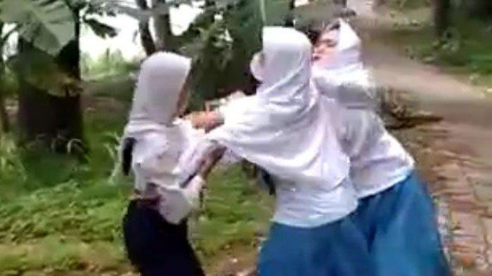 Chat Asmara Berujung Perkelahian Antar Siswi di Lumajang, Terungkap dari Video Viral