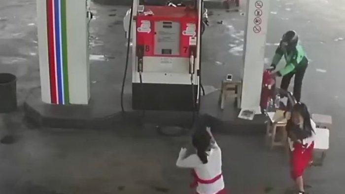 Fakta di Balik Video Viral Perampokan di SPBU Jalan Raya Benoa, Denpasar, Pelaku Bawa Senjata Mainan
