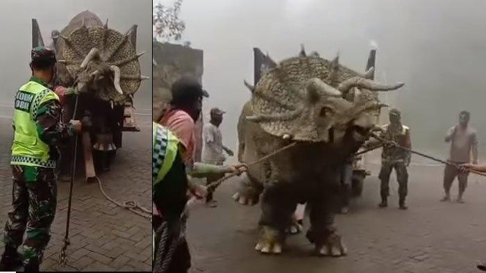 Fakta di Balik Video Viral Dinosaurus Diturunkan dari Truk di Mojosemi Forest Park, Magetan