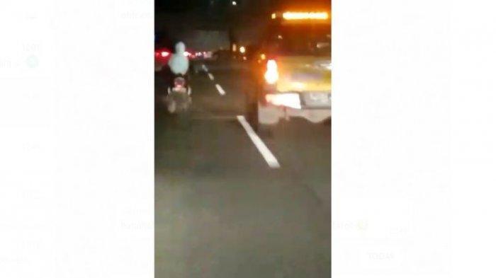 Penjelasan Polisi Soal Video Viral Wanita Naik Motor dan Tanpa Helm Melaju di Tol Jagorawi