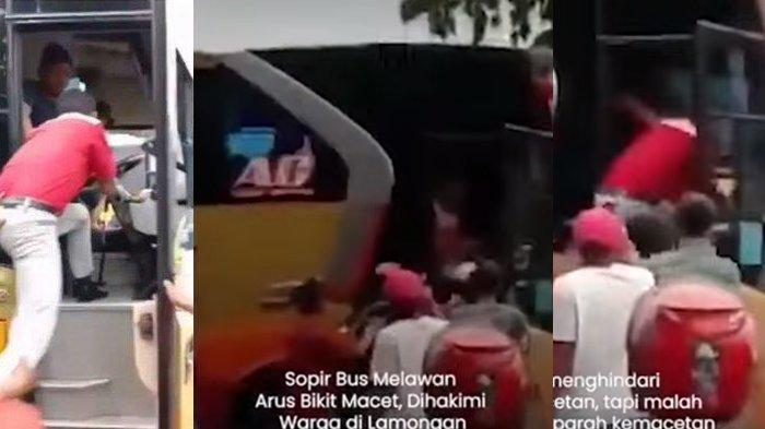 Video Viral Sopir Bus di Lamongan Ugal-ugalan Bikin Emosi, Penumpang Paksa Turun dan Sempat Kabur