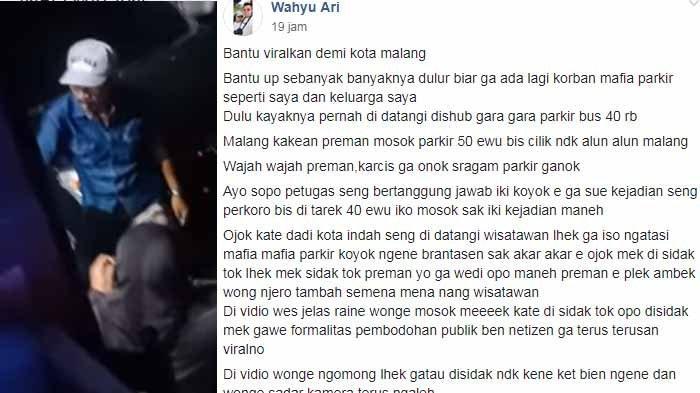Nasib Jukir Alun-alun Merdeka Malang Setelah Parkir Rp 50.000 Viral, Polisi : Itu Ranah Perda 3/2015